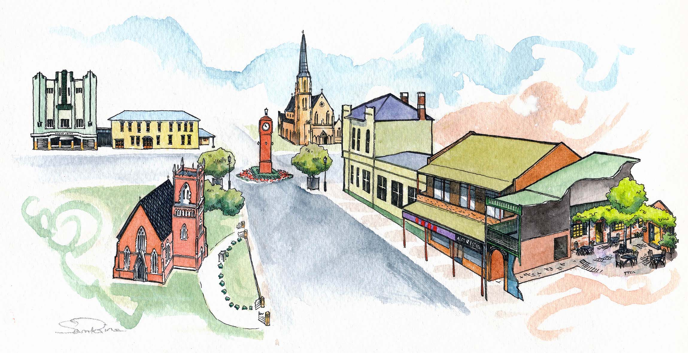 mudgee sketch